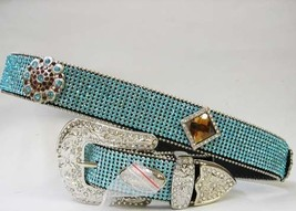 XS S M L  XL Rhinestone Lace Turquoise Buckle Bling Western Cowgirl Rode... - $79.19
