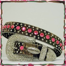 XS S M L or XL Camo Pink Rhinestone Row Western Buckle Cowgirl Boy  Rode... - $69.99