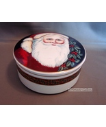 Mikasa Old Saint Nick Christmas Santa Claus Round Trinket Box Candy Jar ** - $7.49