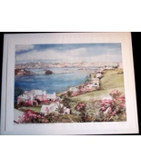 Carole Holding Signed Lithograph Hamilton from Paget Bermuda - $35.99