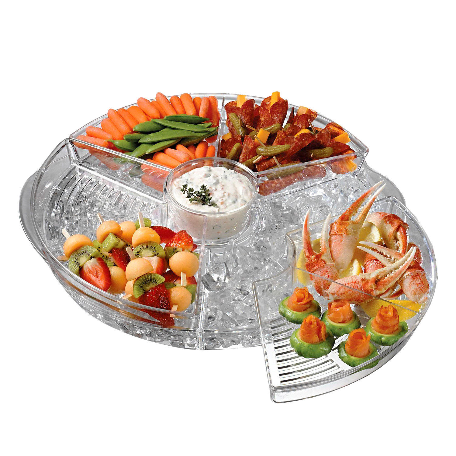 Chilly and Icy Appetizer Serving Tray Nifty Plastic Party Tray