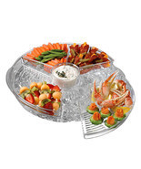 Chilly and Icy Appetizer Serving Tray Nifty Plastic Party Tray - £14.54 GBP