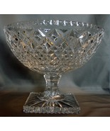 Spectacular Crystal  Pedestal Salad / Fruit Bowl with Facet Cuts - $90.00