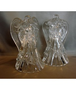 Pair of 7 inch St. George Crystal Angel Tapered Candleholders ~ USA Made. - $17.95