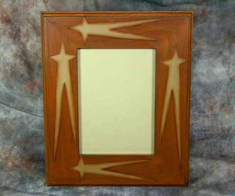 Country Primitive Wooden Stars Photo Frame 5x7