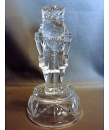 """Pair of Crystal Nutcracker Soldiers Candlestick Holders 8"""" Tall Holds 1""""... - $19.99"""