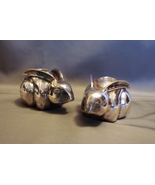 "Silver-Plated ""Rabbit~ Easter Bunny"" Taper Candle Holders from the Potte... - $7.00"