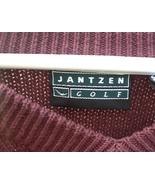 Jantzen Golf Men Long Sleeve Dark Red Large Golf Logo Sweater 100% Cotton - $10.00