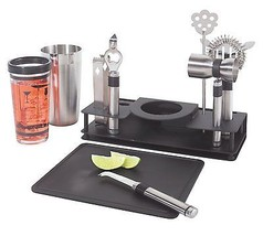 Cocktail Shaker and 10 Piece Bar Tool Set -stainless steel pro tools - €36,44 EUR