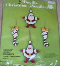 Bucilla Jeweled Santa & Candy Canes Felt Ornaments Kit  - $12.99