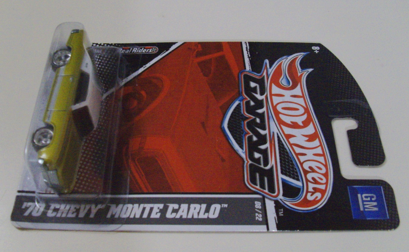 Hot Wheels Garage Real Riders '70 Chevy Monte Carlo car - New