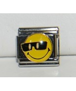 Casa Doro 9134 Smiley Face Cool Sunglasses Charm Link Stainless Steel - $9.99