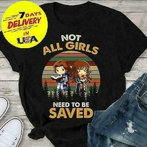 Belle and Hermione Not All Girls Need To Be Saved Black Full Size S-3XL - $12.99