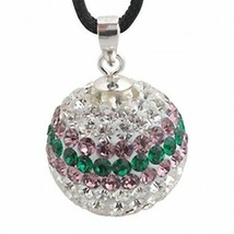 Pendant sterling silver with swarovski crystals zd1101 new new - $8.30