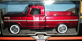 1969 Ford F-100 Pickup Truck Burgundy 1/24 by Motormax (Truck) NEW - $23.95
