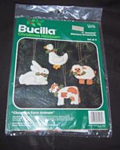 Bucilla Christmas Farm Animals Jeweled Felt Applique Ornament Kit  - $19.99