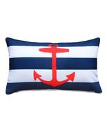 Pillow Decor - Red Anchor Nautical Throw Pillow 12x19 - $39.95