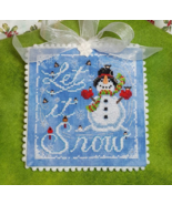 Let it Snow christmas snowman cross stitch chart Blackberry Lane Designs - $10.80
