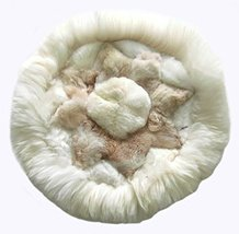 Alpakaandmore, Alpaca Fur Rug Round Different Sizes Star Designs (23.62/ 60 cm) - $91.08
