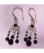 OOAK Handmade .925 Sterling Silver Black Onyx Earrings - $25.00