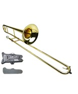B Flat GOLD Brass Slide Trombone with Zippered Carrying Case - $179.99