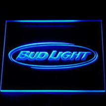 neon sign  bud light   pub beer happy hour man cave - $29.99