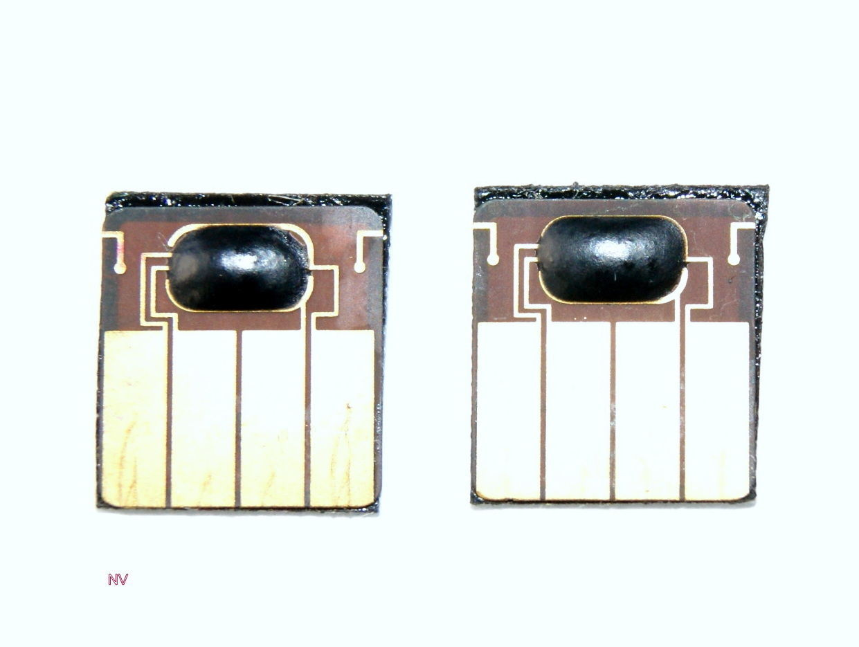 Resetted 1 set of HP 88  Black/ Yellow Cyan/magenta Printhead chips