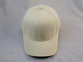 Ball Cap Hat Brushed Twill 6-Panel  #6377, Elastic Headband, Natural Cre... - $8.95
