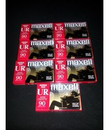 Lot of 7  Maxell UR90 Blank Audio Cassette Tape... - $39.19