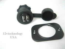 Weatherproof Dual Twin USB Charger Panel Socket 12 Volt Outlet Marine Li... - €7,68 EUR