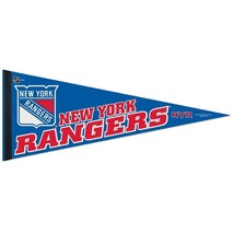 "BIG NEW YORK RANGERS TEAM FELT PENNANT 12""X 30"" NHL HOCKEY SHIPS FLAT! - $174,51 MXN"