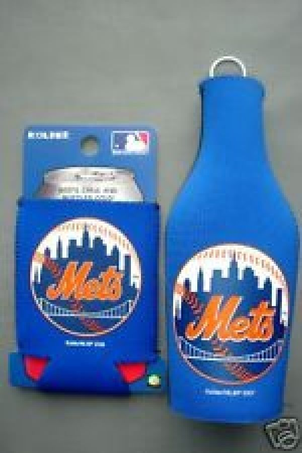 NEW YORK METS  BEER/SODA BOTTLE & CAN KOOZIE HOLDER MLB BASEBALL