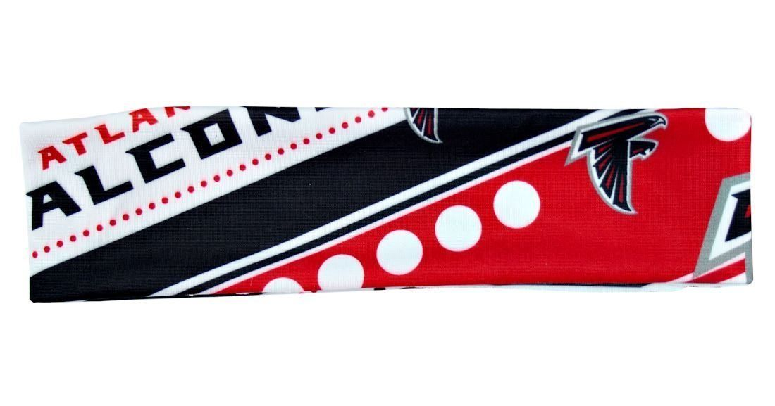 ATLANTA FALCONS STRETCH PATTERN HEADBAND GAME TAILGATE PARTY NFL FOOTBALL