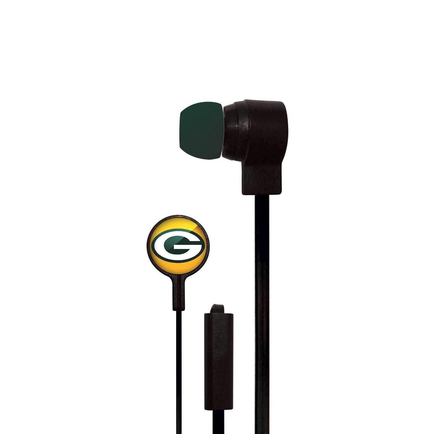 GREEN BAY PACKERS MIZCO STEREO EAR BUDS iPod iPhone iPad Android HANDSFREE MIC