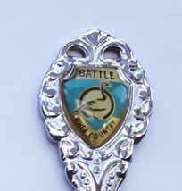 Collector Souvenir Spoon Canada Alberta Battle River Country Canada Goose Emblem - $6.99