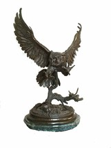 """""""Owl"""" Lost Wax Bronze Sculpture by Jules Moigniez - Baby Size - $398.75"""