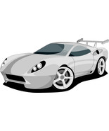 5 Sports Car -Digital Clipart - $4.00