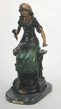 """30'H """"Red Riding Hood"""" Pure American Bronze Statue Sculpture by A. Moreau - $1,999.95"""