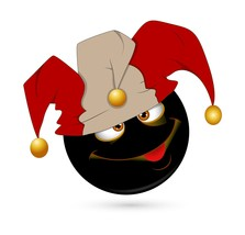 Jester Smiley-Digital Clipart - $3.85