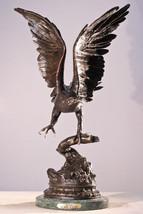 """Eagle"" Lost Wax Bronze Sculpture Statue by Jul... - $1,999.90"