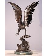 """Eagle"" Lost Wax Bronze Sculpture Statue by Jules Moigniez Regular 31""H ... - $1,999.90"