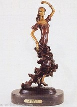 "20""H ""Flamenco"" Lost Wax American Bronze Statue by Demetre Chiparus - $698.00"