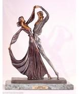 "19""H ""Tango"" Lost Wax Bronze Art Deco Sculpture Statue by Demetre Chiparus - $1,795.00"