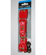 Adjustable Red Dog Christmas Collar LG Reindeer, Snowflakes,Tree, Fits 1... - $4.99