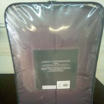 Purple Pinched Pleated Comforter Bedspread Bedding Full/Queen Threshold sealed image 5