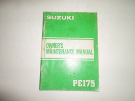 1983 Suzuki Pe175 Owners Maintenance Manual Stained Faded Factory Oem Book 83 - $22.24