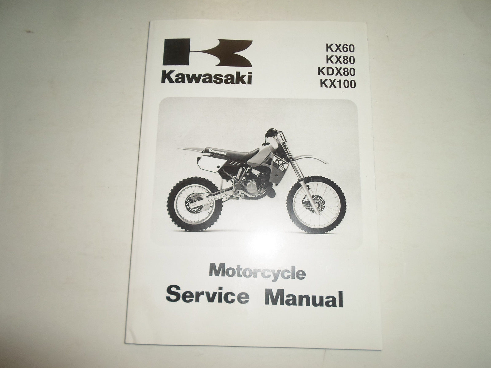 1988 2004 Kawasaki KX60 KX80 KDX80 KX100 Service Repair Shop Manual MINOR  STAINS - $49.45