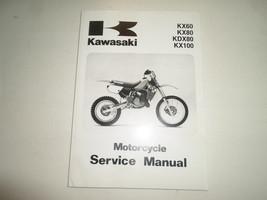 1988 2004 Kawasaki Kx60 Kx80 Kdx80 Kx100 Service Repair Shop Manual Minor Stains - $49.45