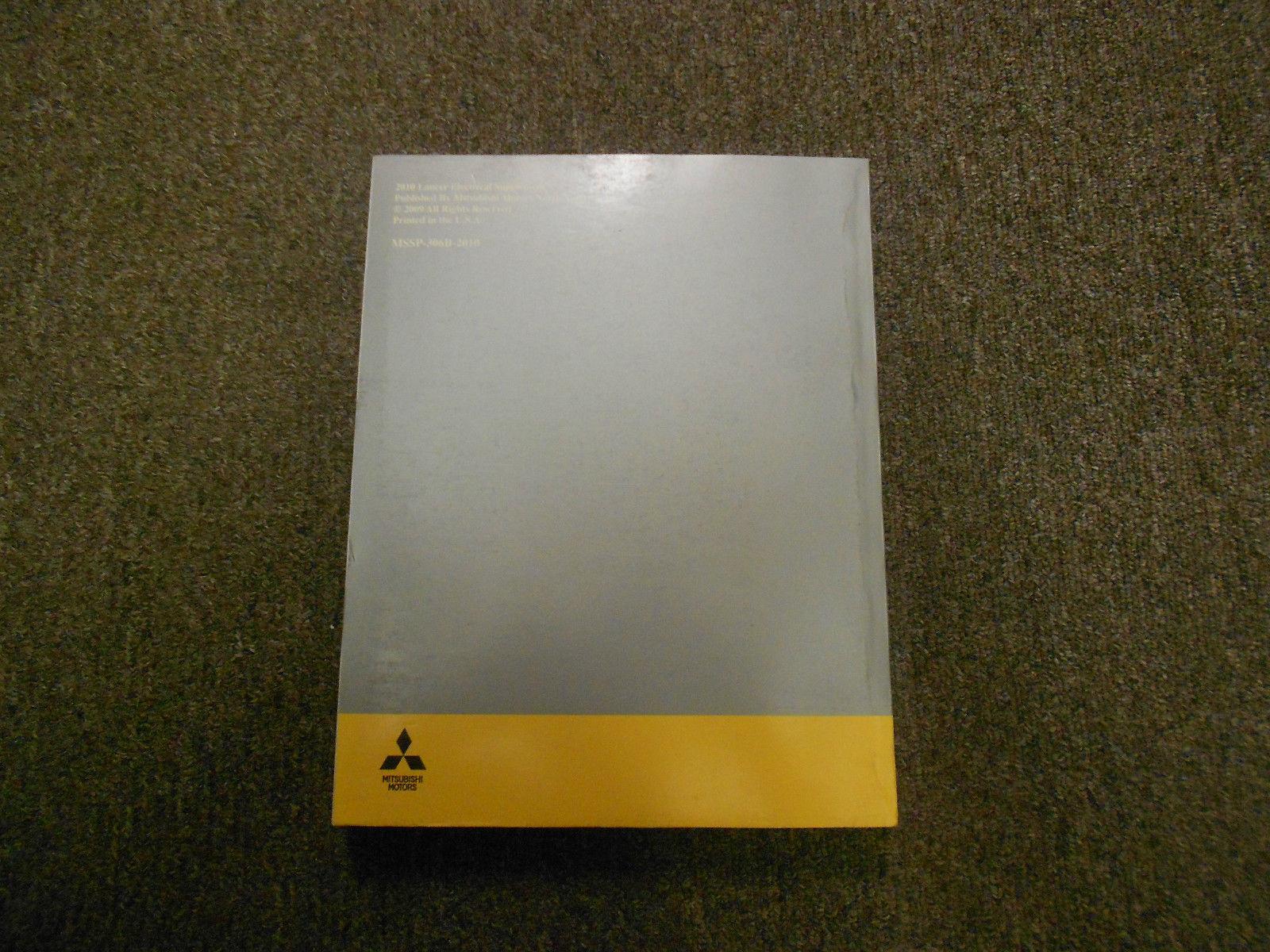 2010 MITSUBISHI Lancer Electrical Supplement Service Repair Manual FACTORY OEM