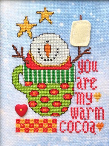Cup Of Happy snowman christmas cross stitch chart Amy Bruecken Designs